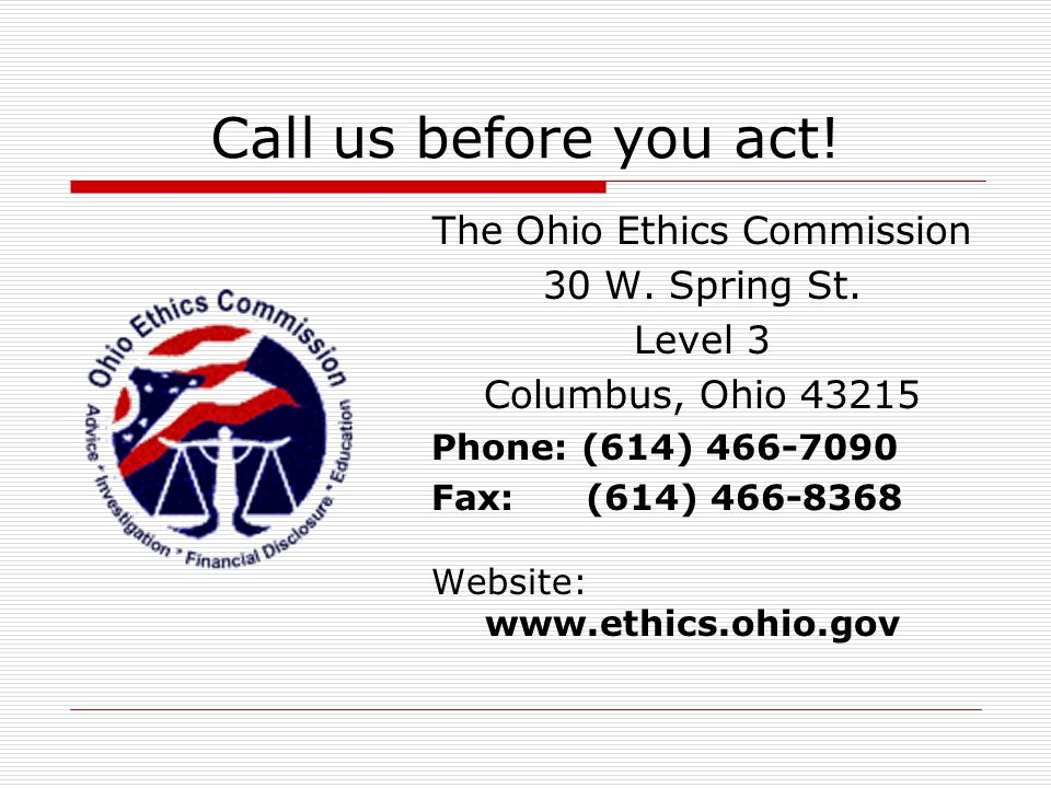 The Ohio Ethics Commission