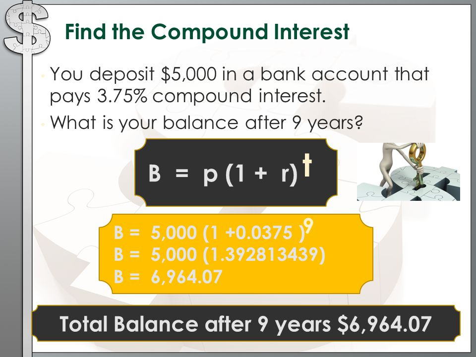 Total Balance after 9 years $6,964.07
