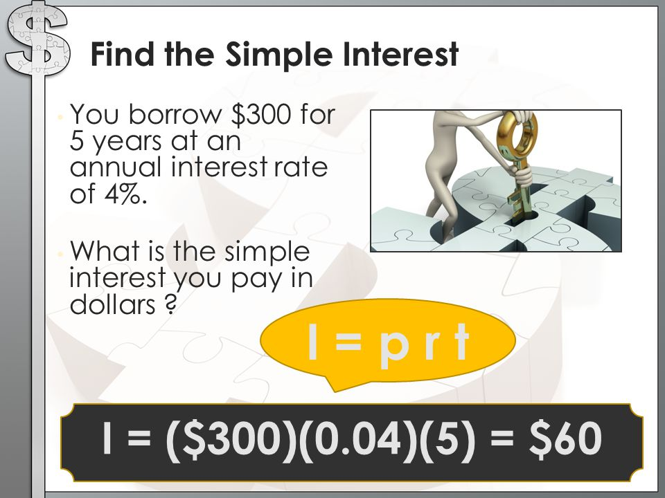 Find the Simple Interest