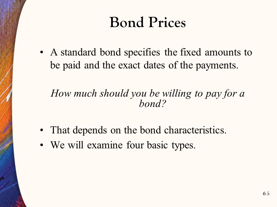 How much should you be willing to pay for a bond