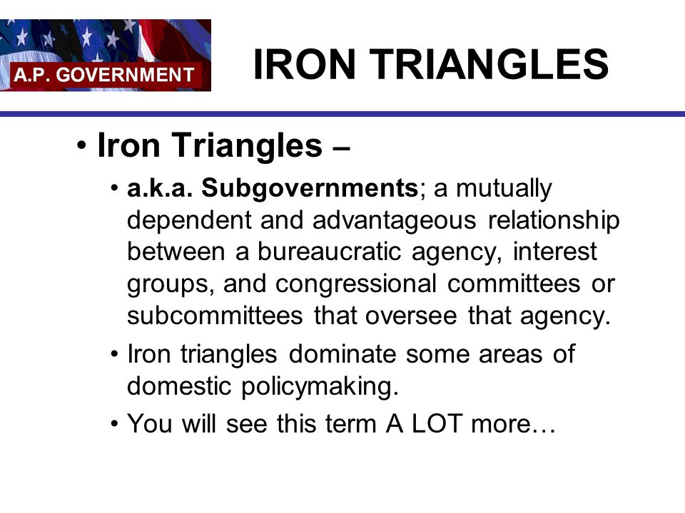 IRON TRIANGLES Iron Triangles –