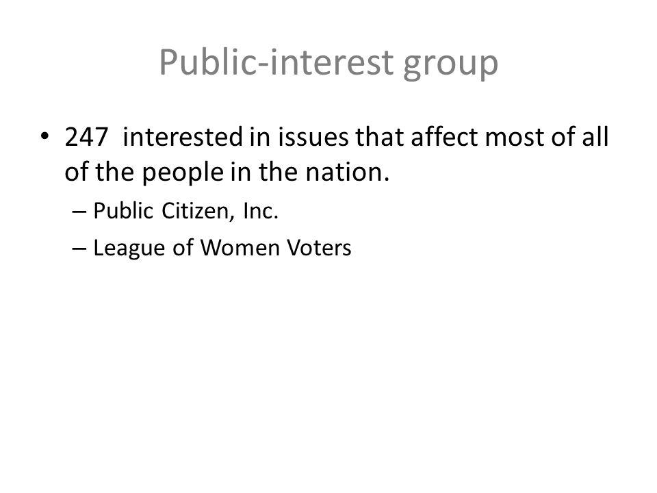 Public-interest group