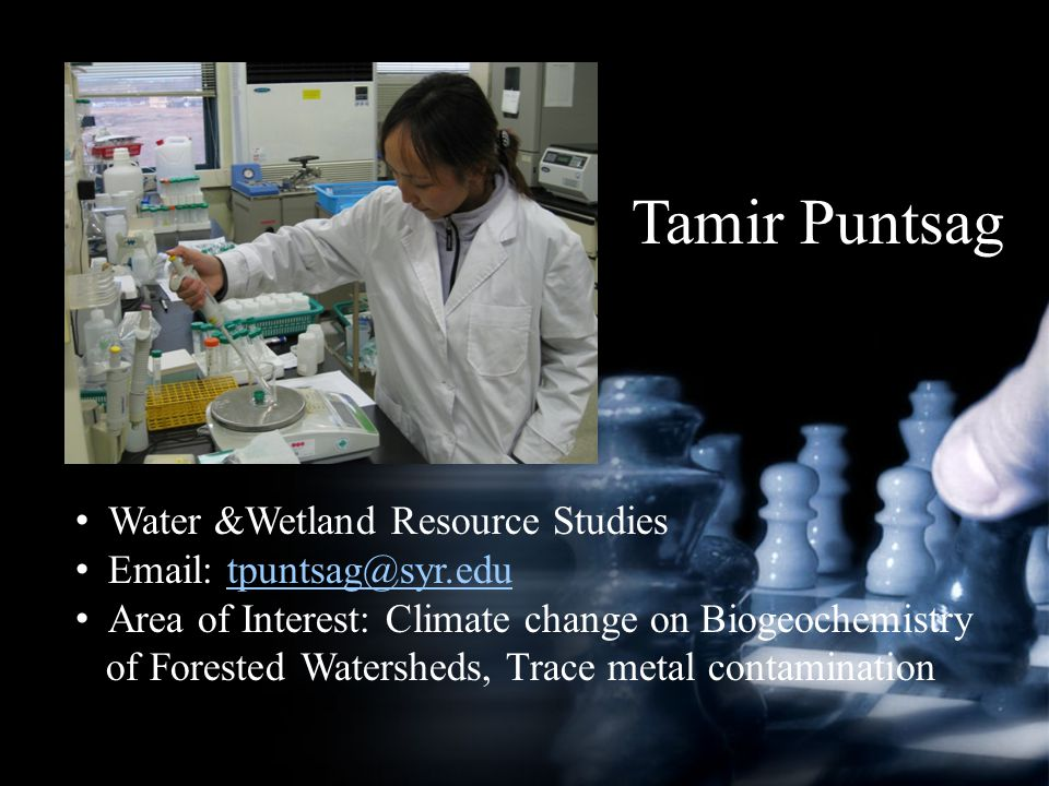 Tamir Puntsag Water &Wetland Resource Studies