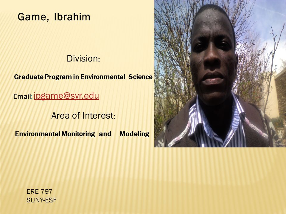 Graduate Program in Environmental Science