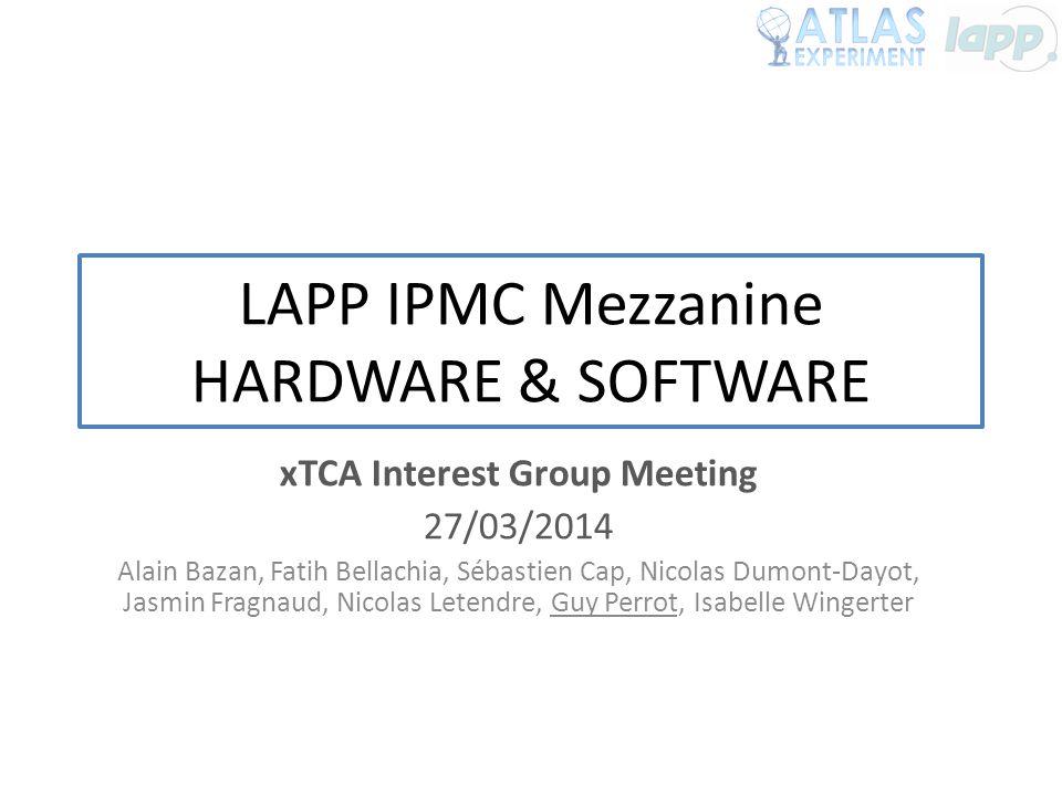 LAPP IPMC Mezzanine HARDWARE & SOFTWARE