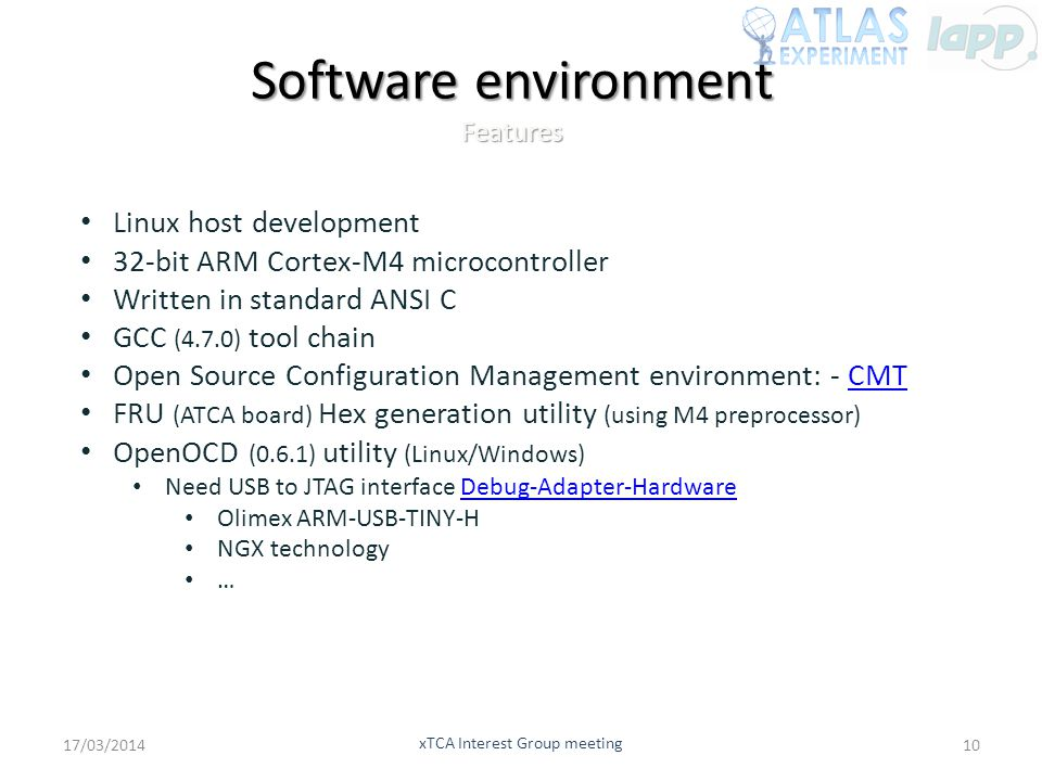 Software environment Features