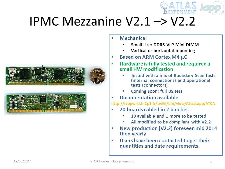 IPMC Mezzanine V2.1 –> V2.2
