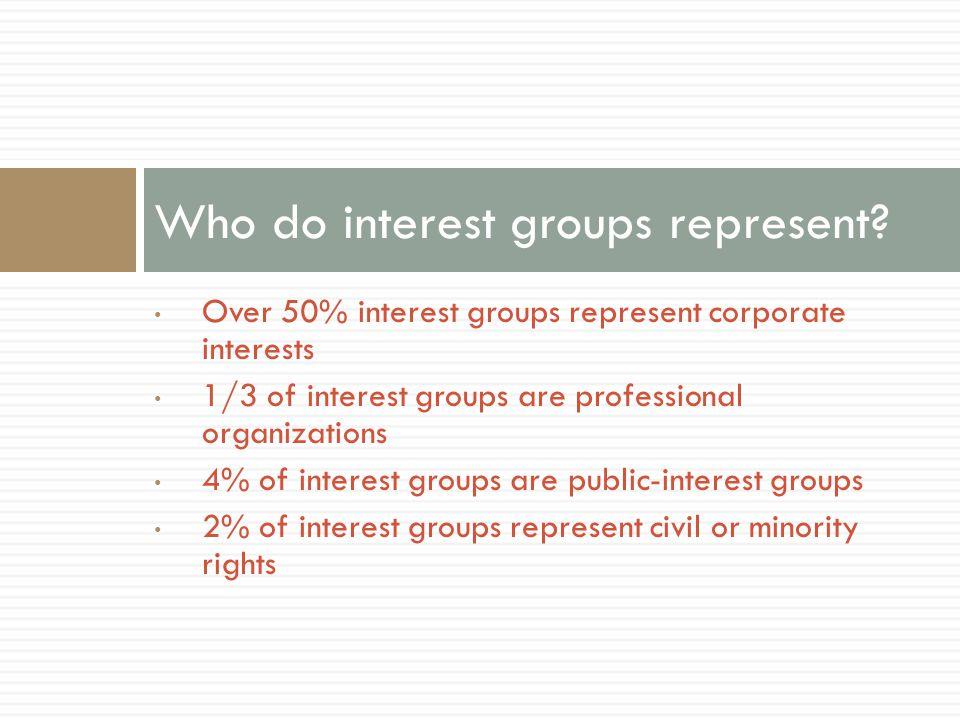 Who do interest groups represent