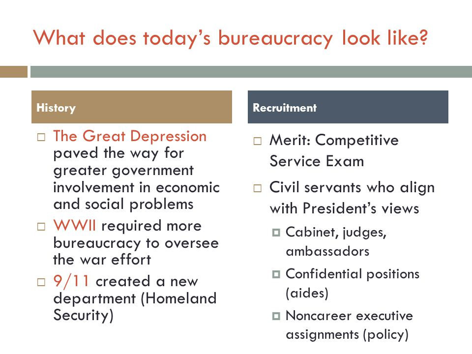 What does today's bureaucracy look like