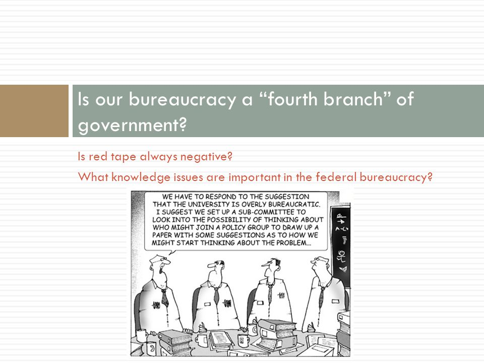 Is our bureaucracy a fourth branch of government