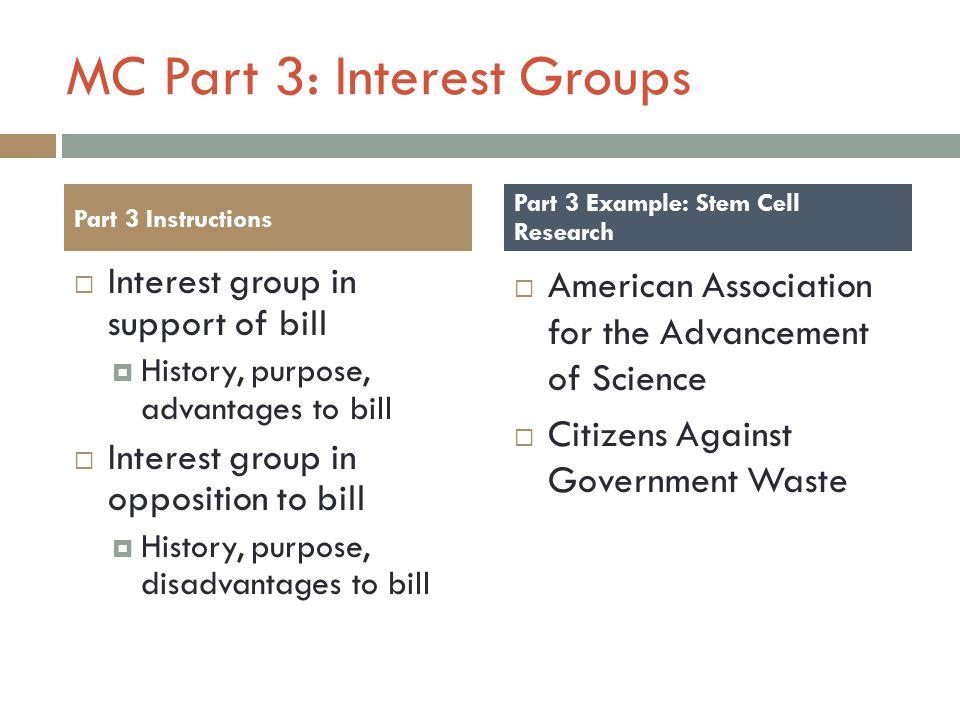 MC Part 3: Interest Groups