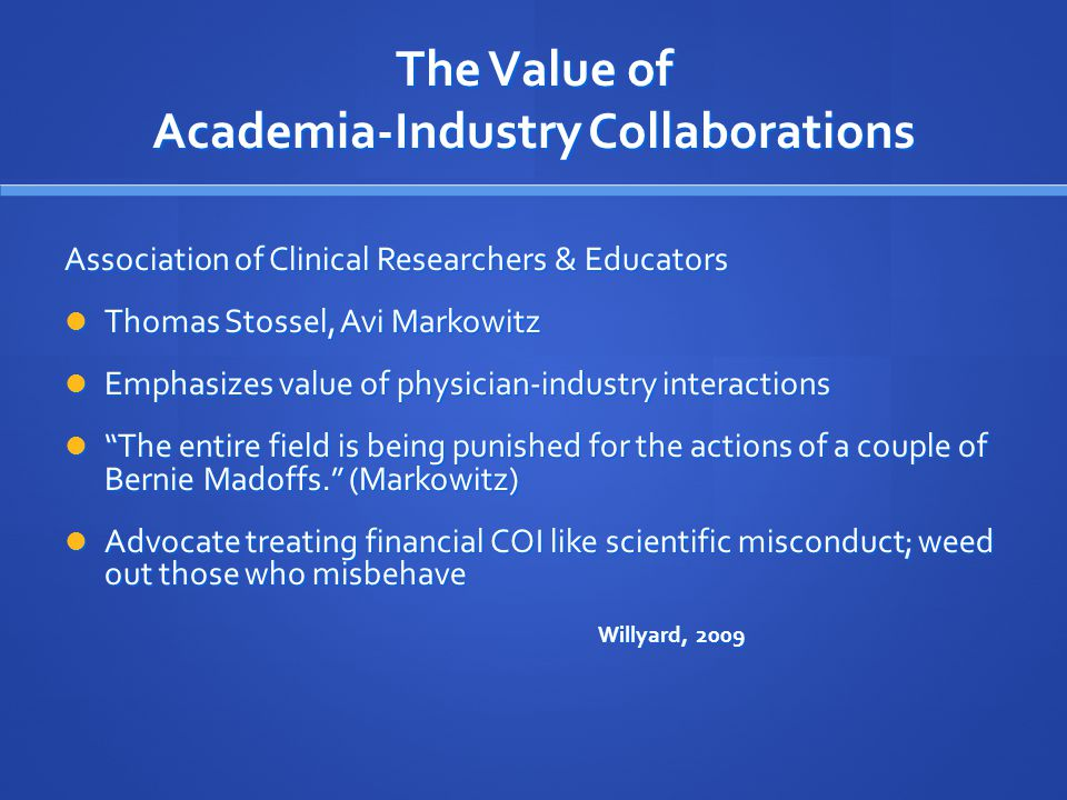 The Value of Academia-Industry Collaborations