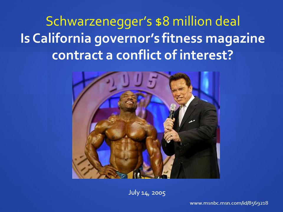 Schwarzenegger's $8 million deal