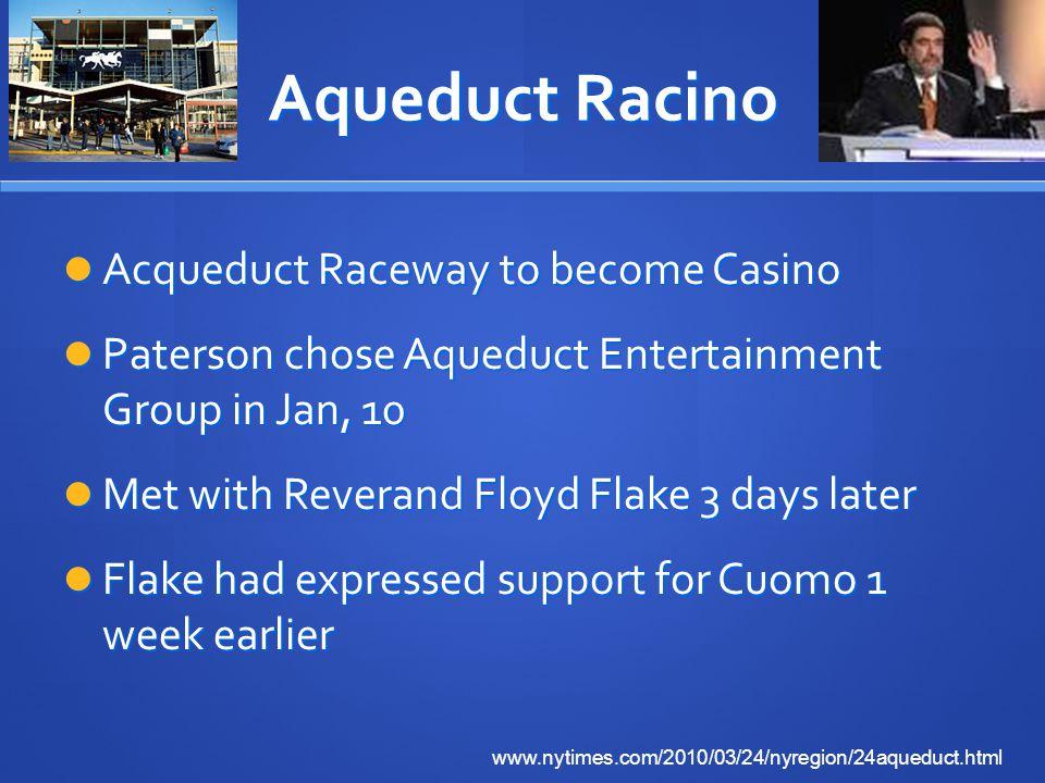 Aqueduct Racino Acqueduct Raceway to become Casino