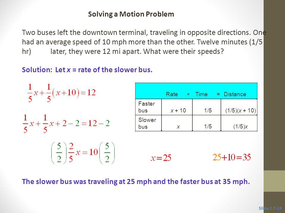 Solving a Motion Problem