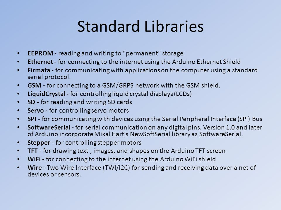 Standard Libraries EEPROM - reading and writing to permanent storage