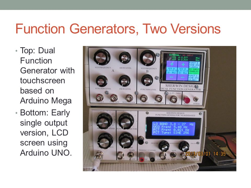 Function Generators, Two Versions