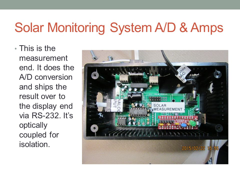 Solar Monitoring System A/D & Amps