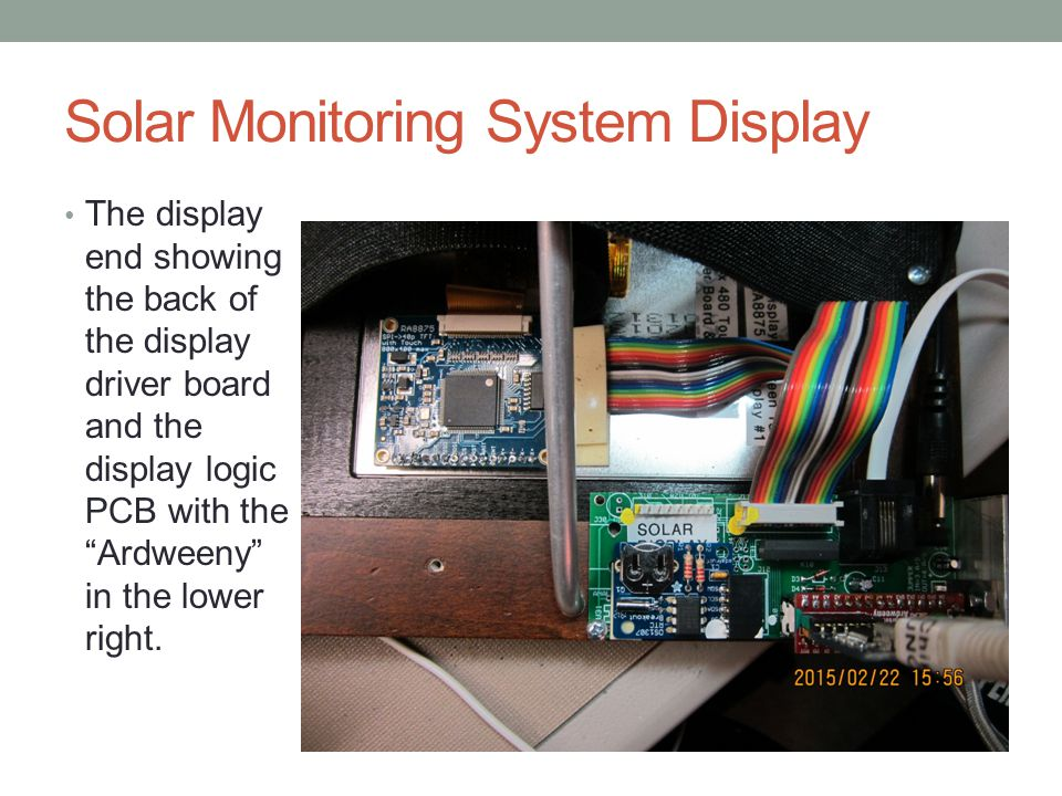 Solar Monitoring System Display
