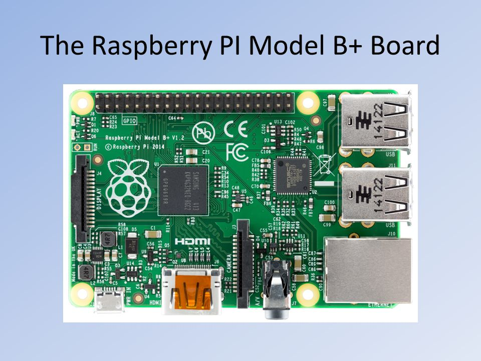 The Raspberry PI Model B+ Board