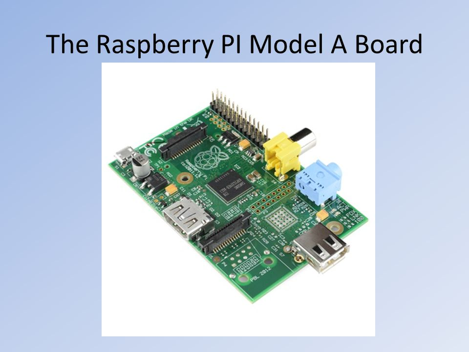 The Raspberry PI Model A Board