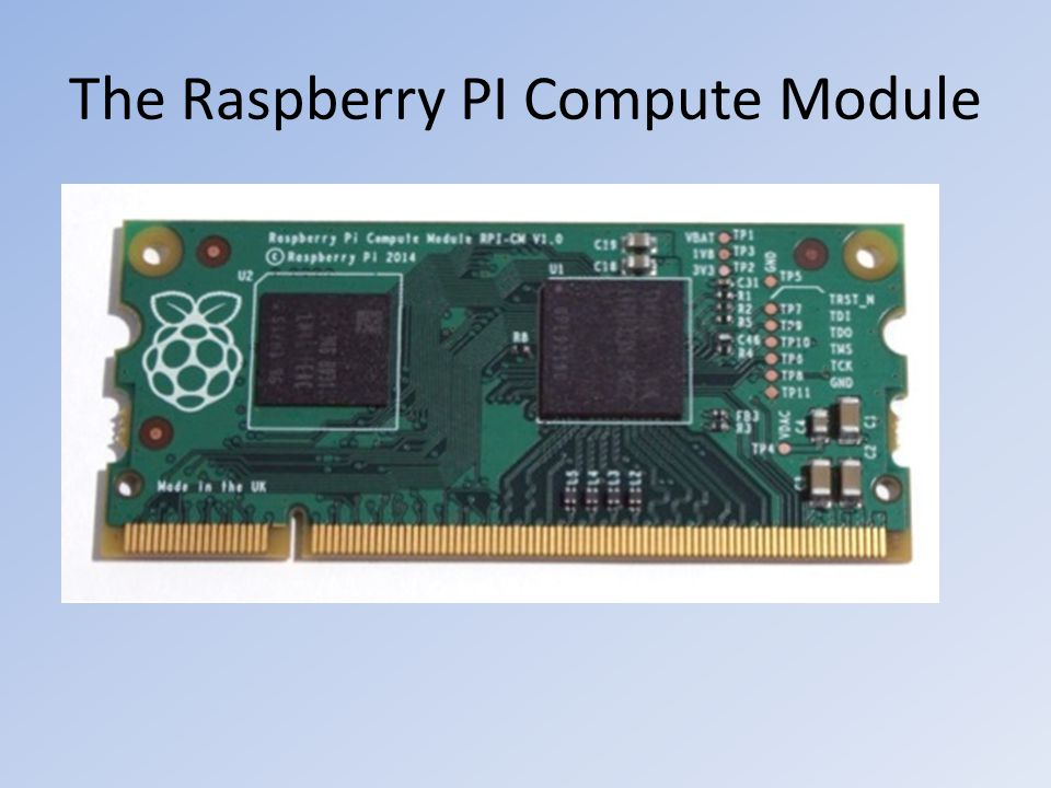 The Raspberry PI Compute Module