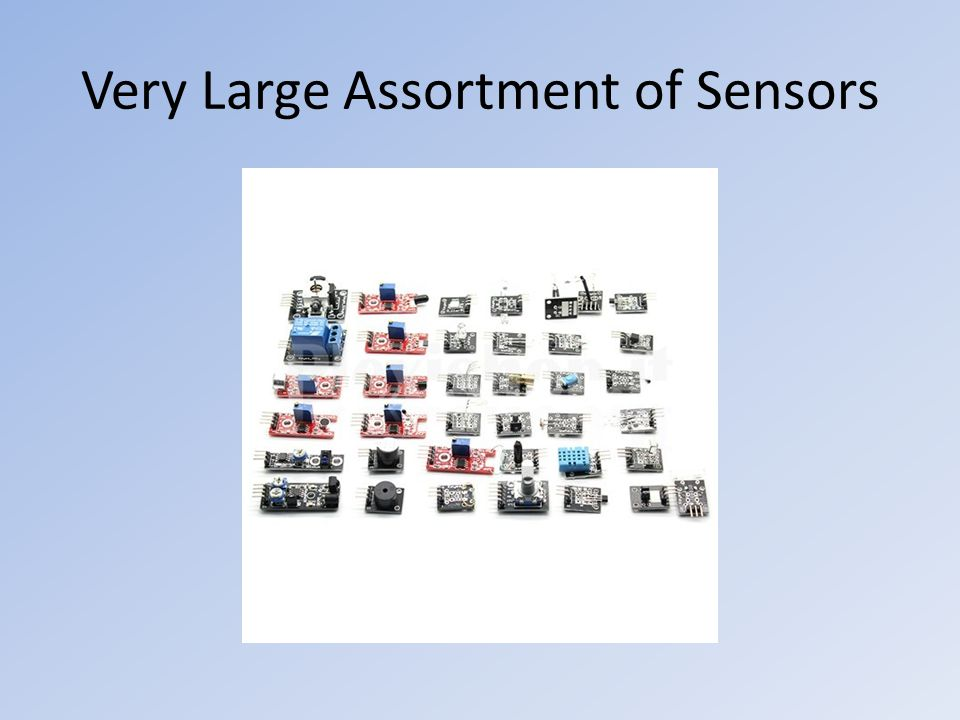Very Large Assortment of Sensors