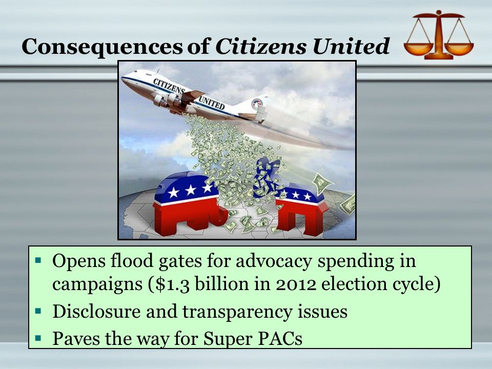 Consequences of Citizens United