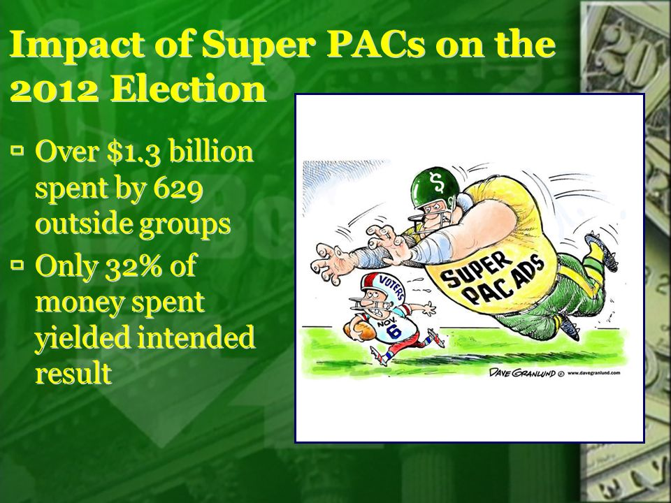 Impact of Super PACs on the 2012 Election