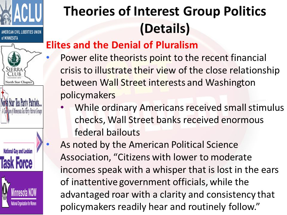 Theories of Interest Group Politics (Details)