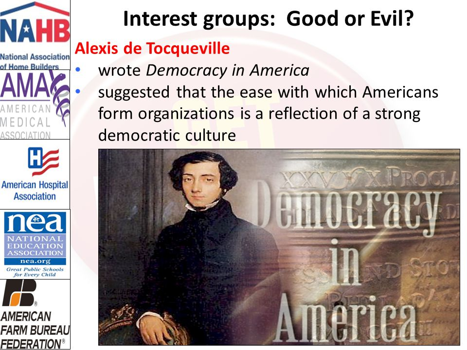 Interest groups: Good or Evil