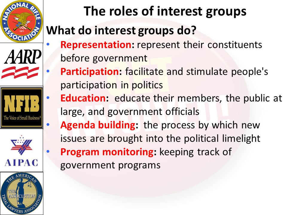 The roles of interest groups