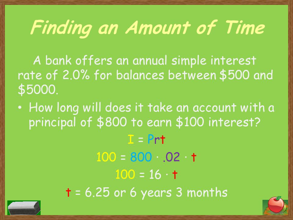 Finding an Amount of Time