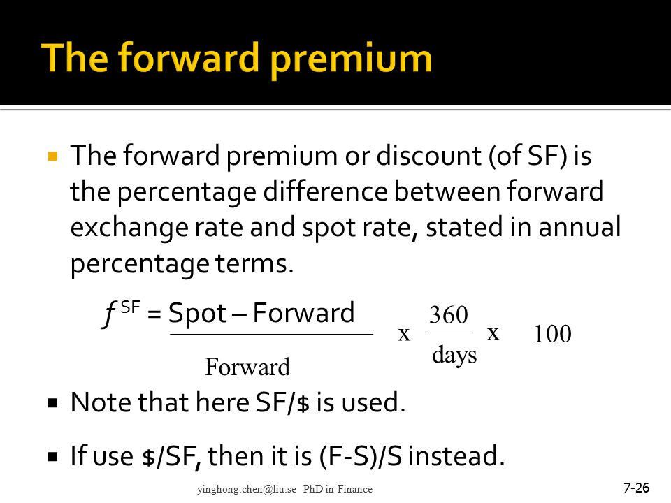 The forward premium