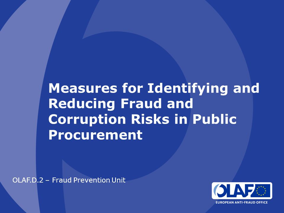 OLAF.D.2 – Fraud Prevention Unit