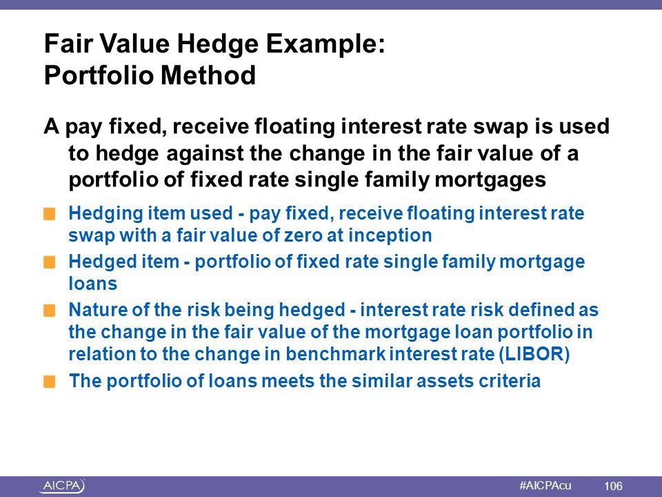 Fair Value Hedge Example: Portfolio Method