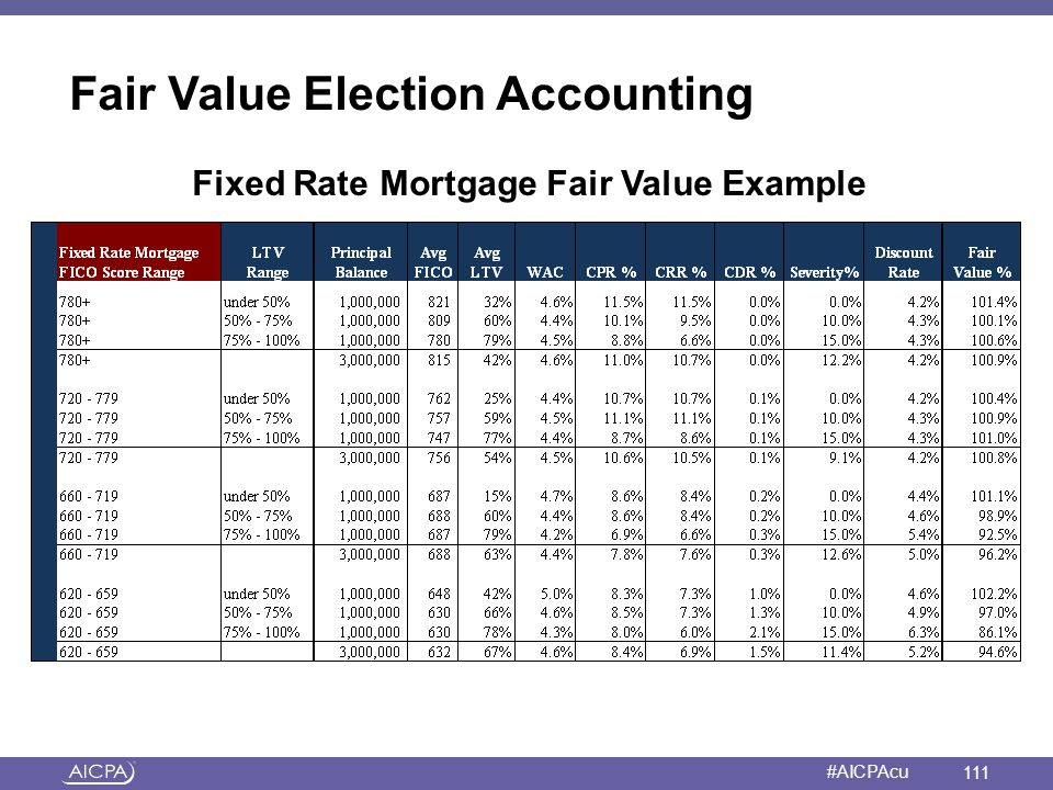 Fair Value Election Accounting