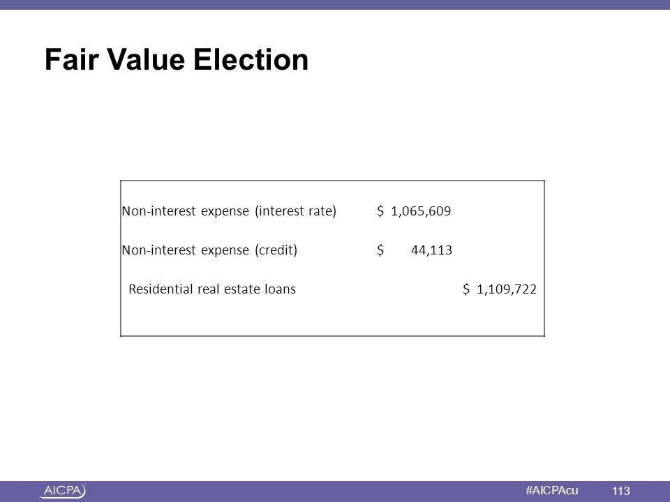 Fair Value Election a Non-interest expense (interest rate) $ 1,065,609