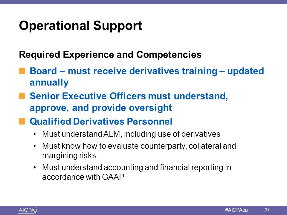 Operational Support Required Experience and Competencies