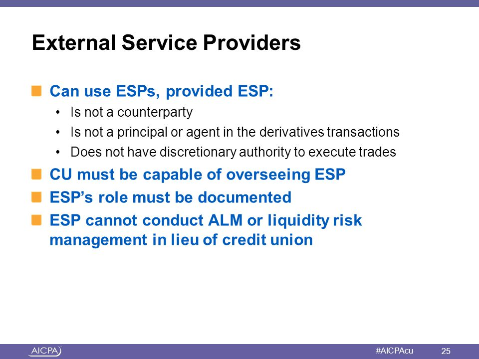 External Service Providers