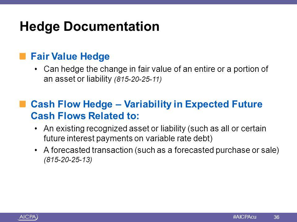 Hedge Documentation Fair Value Hedge