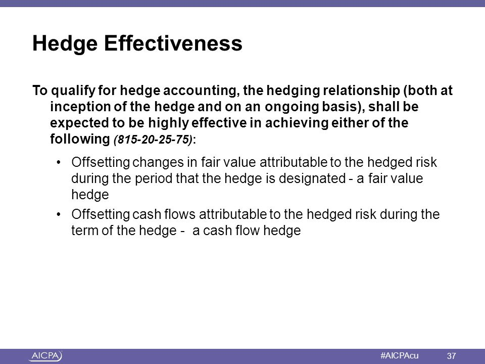 Hedge Effectiveness