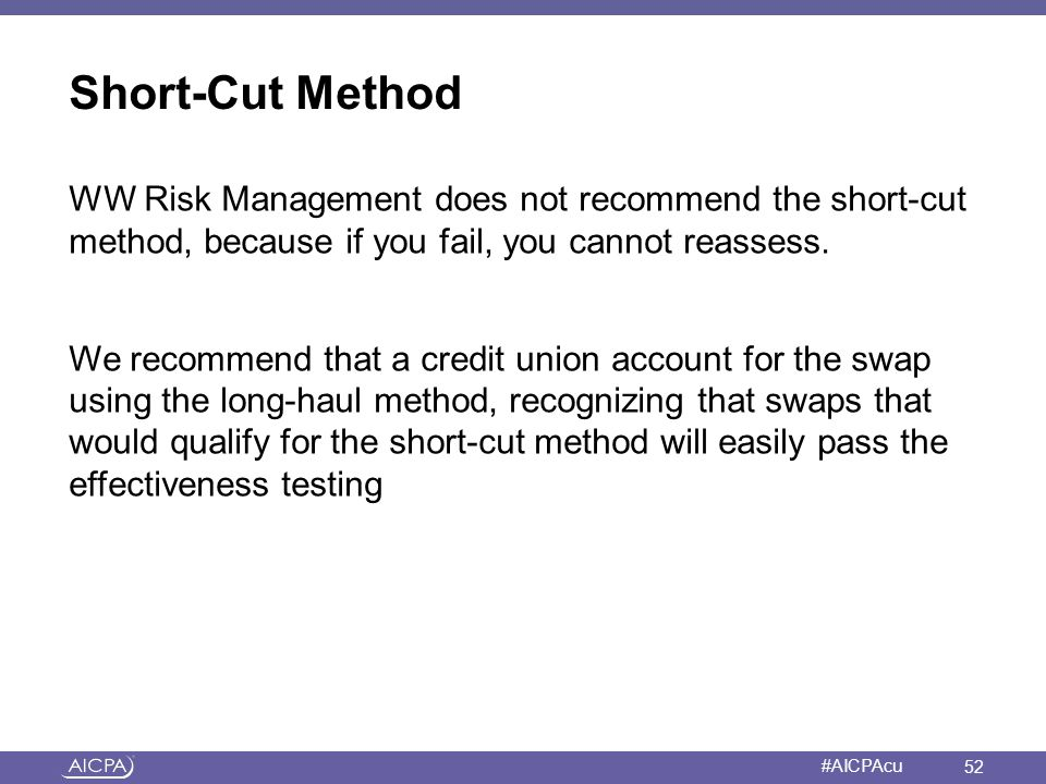 Short-Cut Method