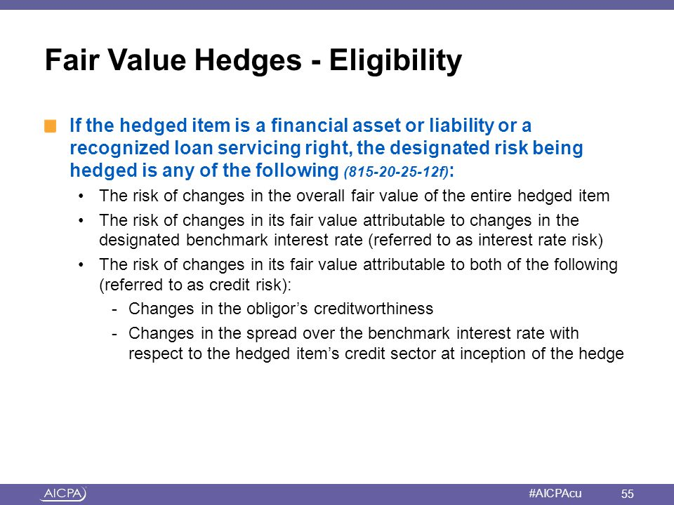 Fair Value Hedges - Eligibility