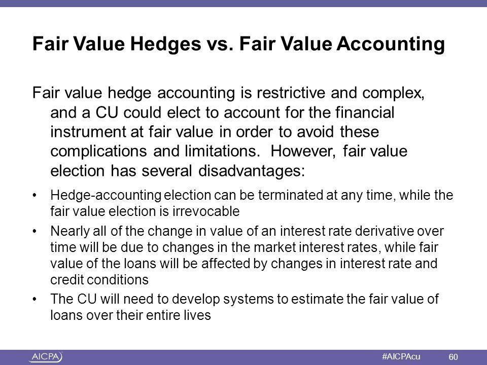 Fair Value Hedges vs. Fair Value Accounting