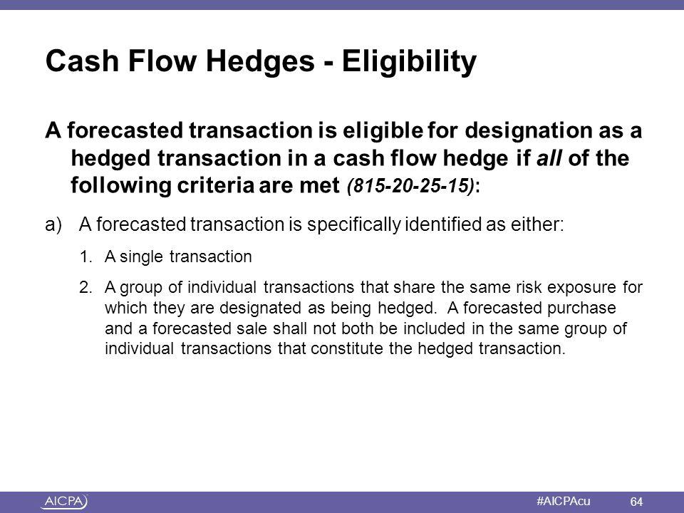 Cash Flow Hedges - Eligibility