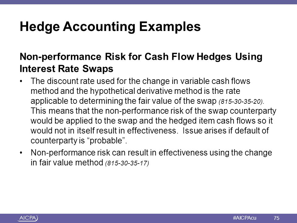 Hedge Accounting Examples