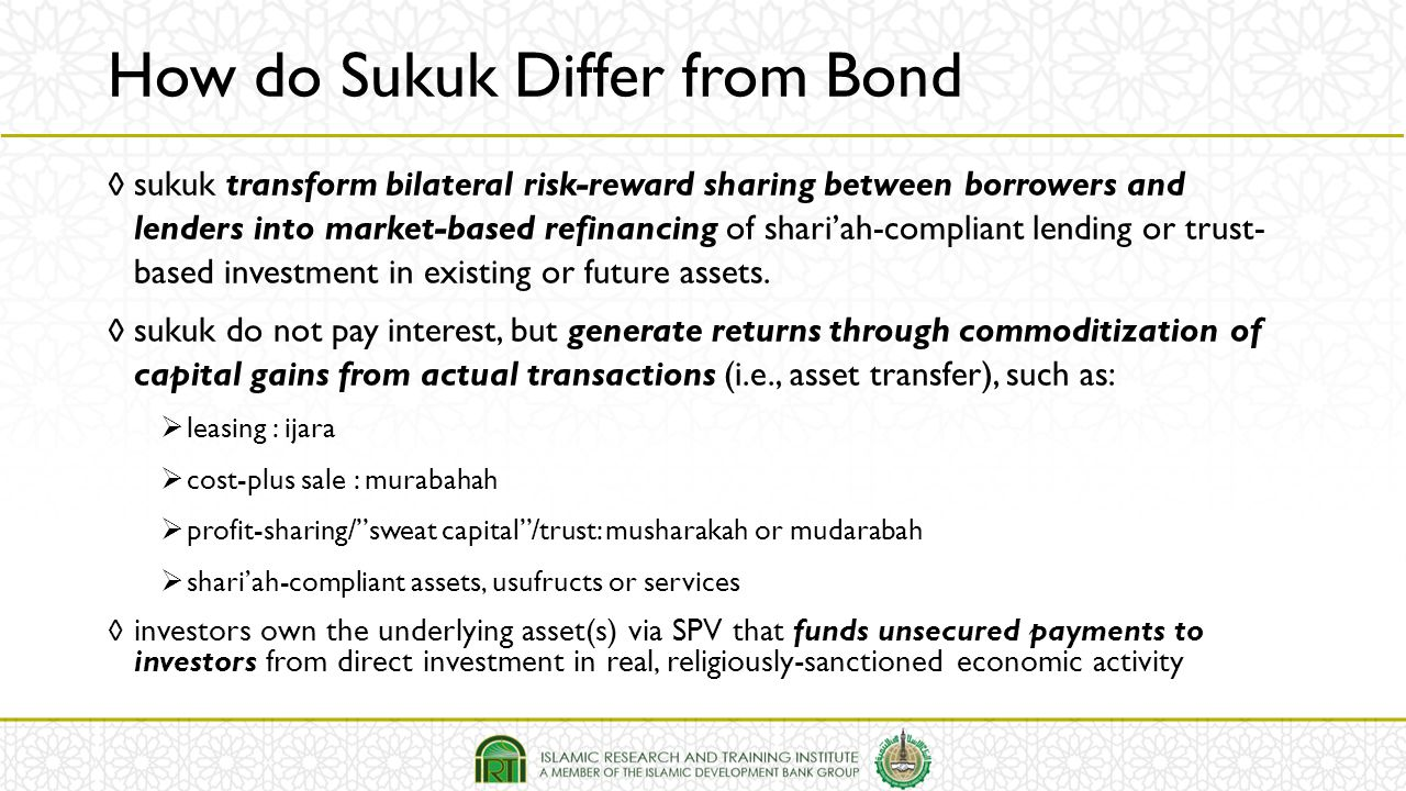 How do Sukuk Differ from Bond