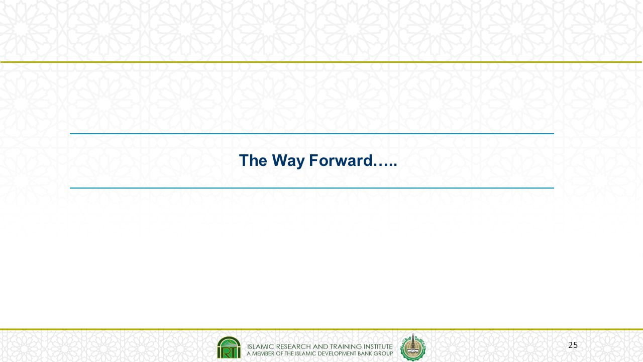 The Way Forward…..
