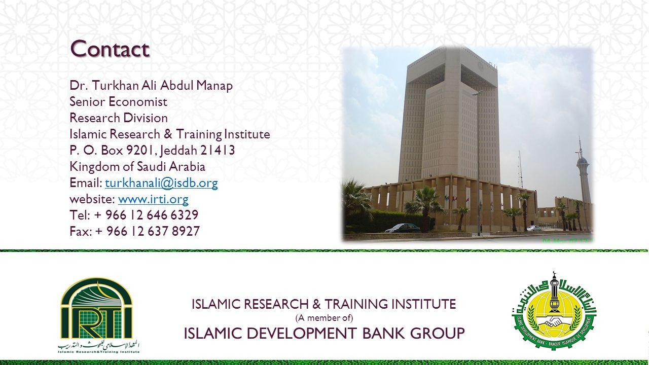 Contact Islamic development bank group Dr. Turkhan Ali Abdul Manap